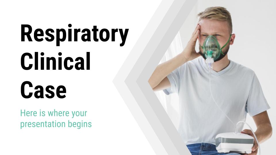 Plantilla de presentación Caso clínico de problema respiratorio