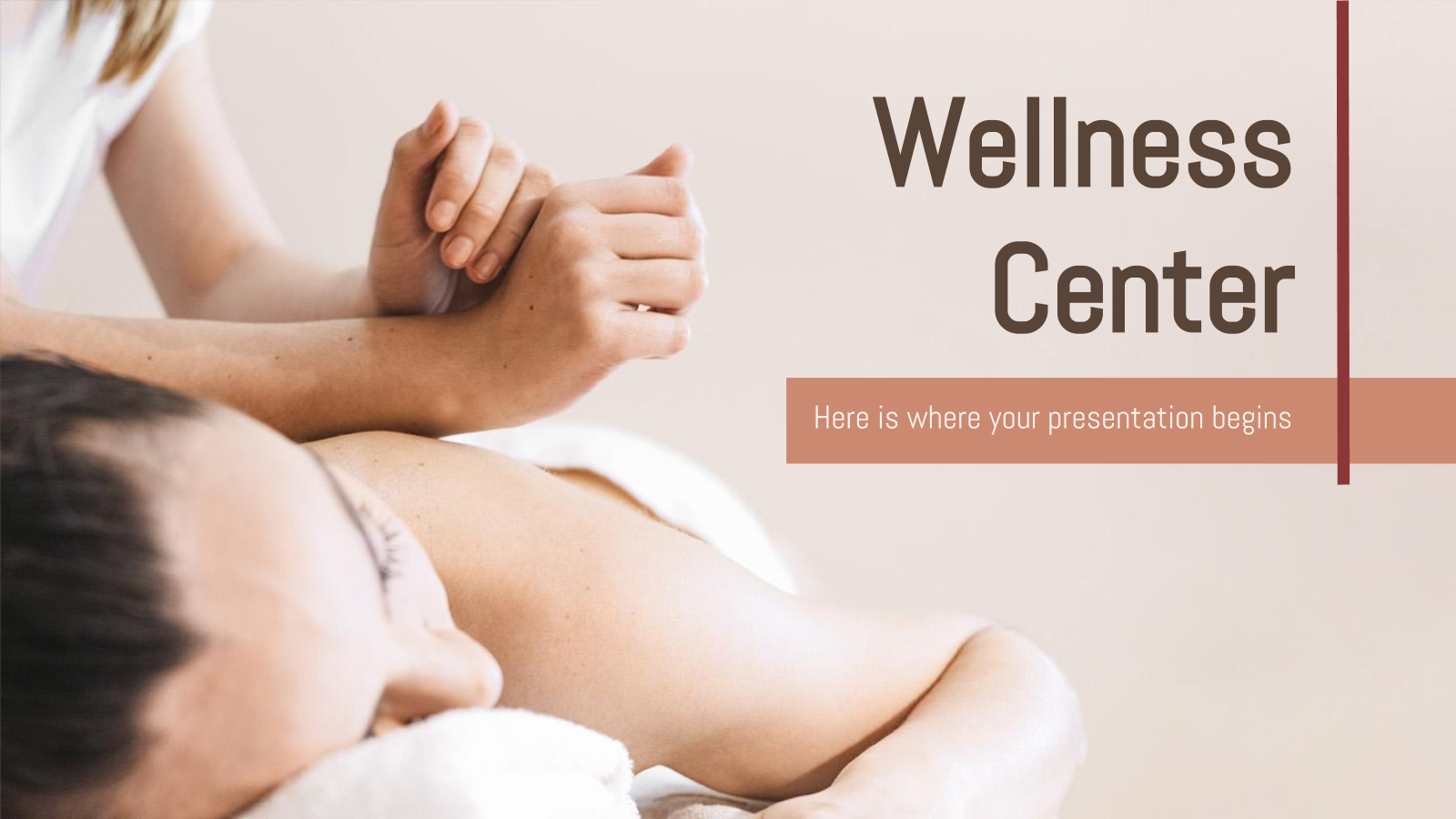 Wellness Center presentation template