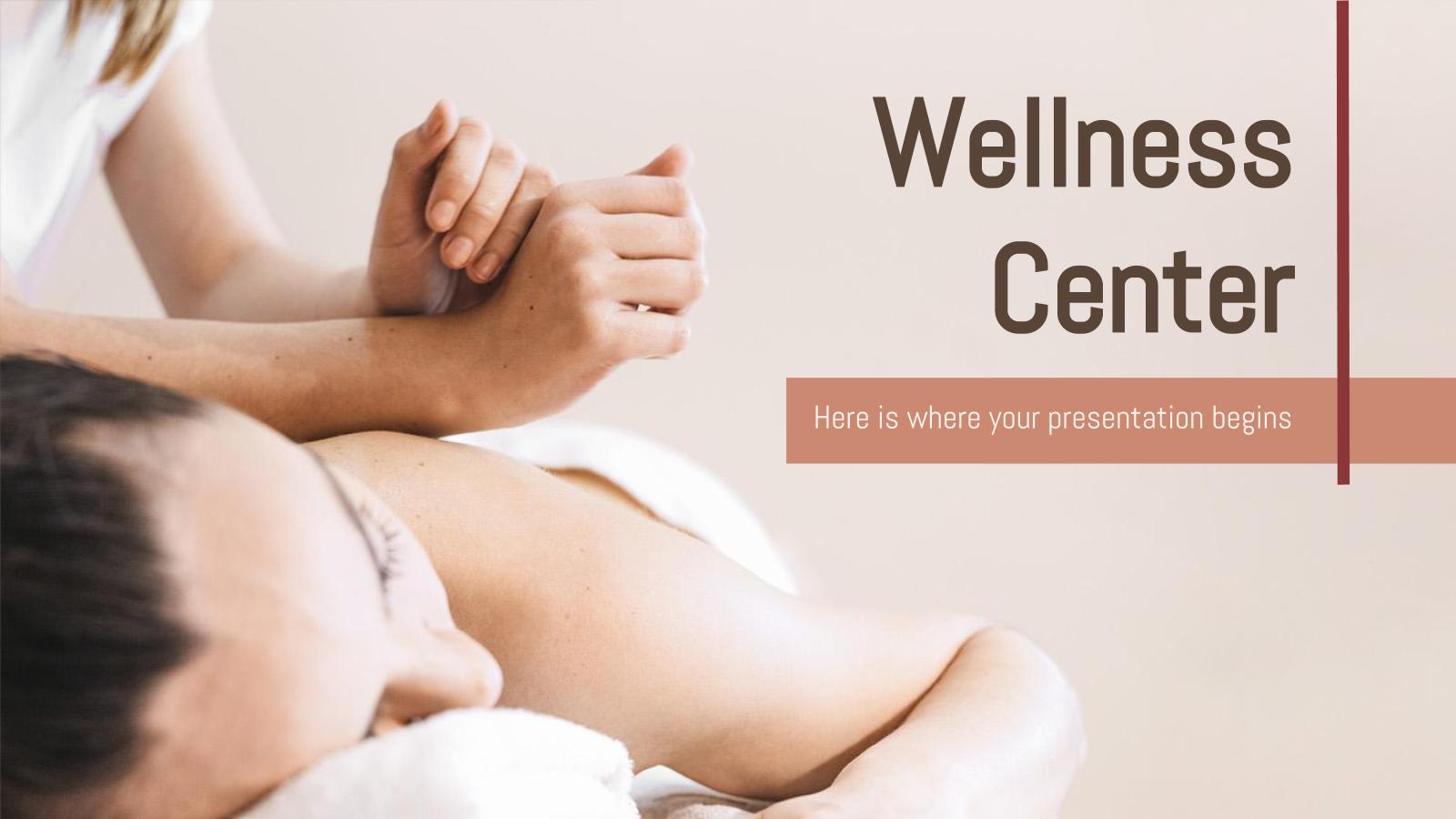 Modelo de apresentação Centro de bem-estar