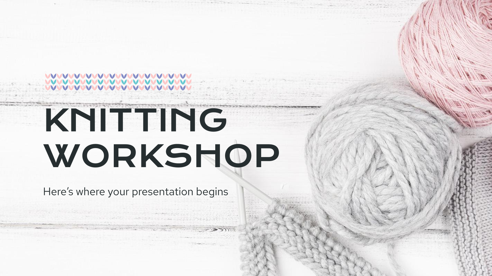Atelier de tricot : Modèles de présentation
