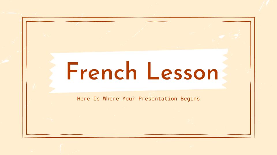Cours de français : Modèles de présentation