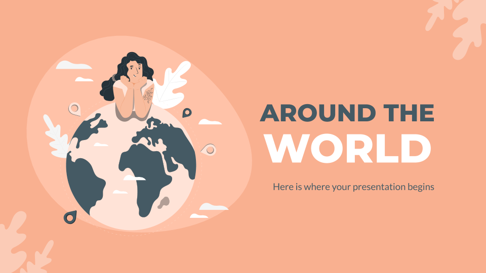 Around the World presentation template