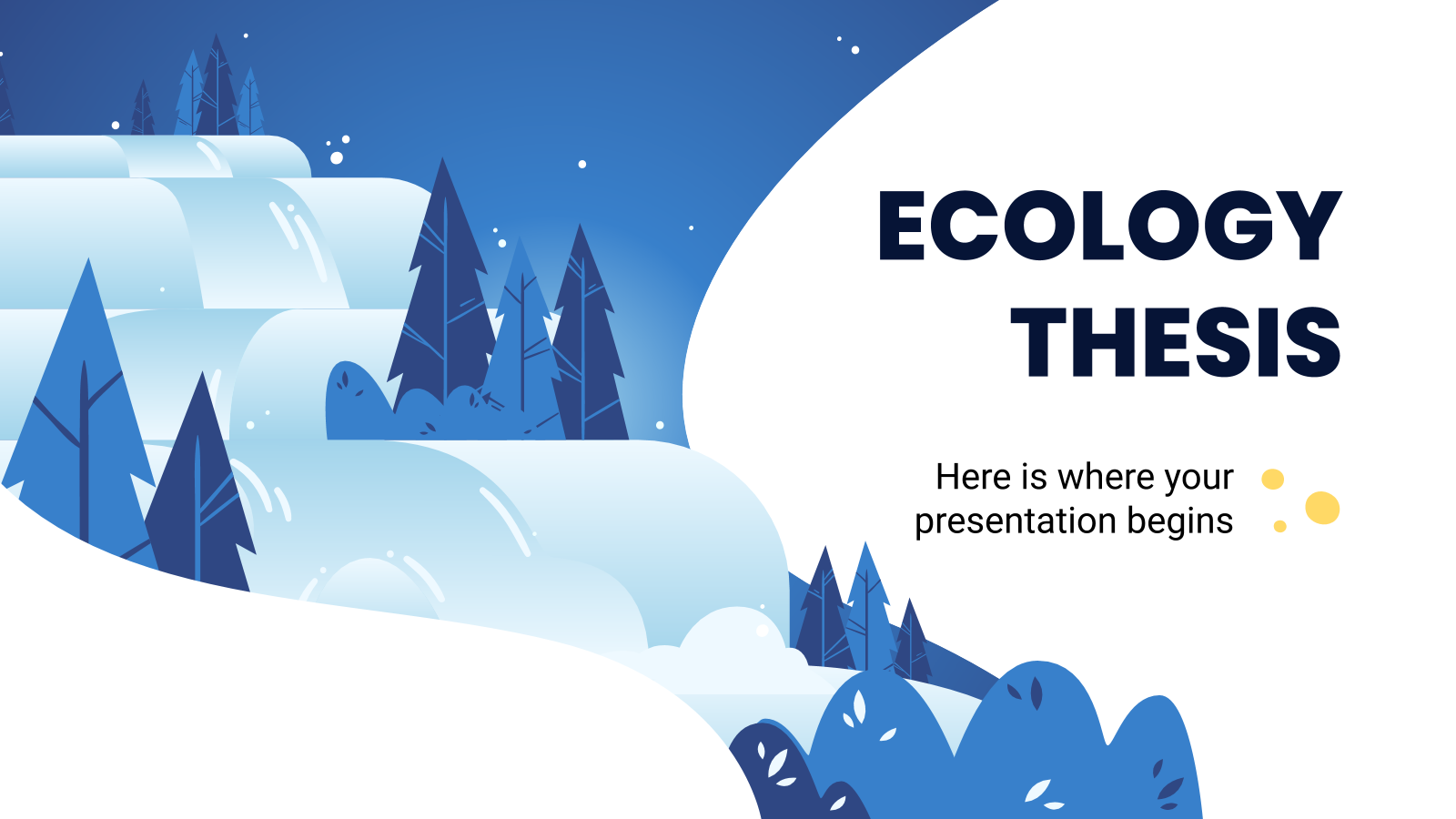 Ecology Thesis presentation template