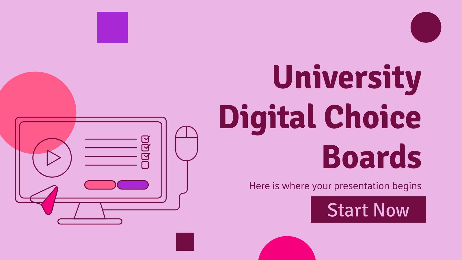 Modelo de apresentação Placar de opções para universidade