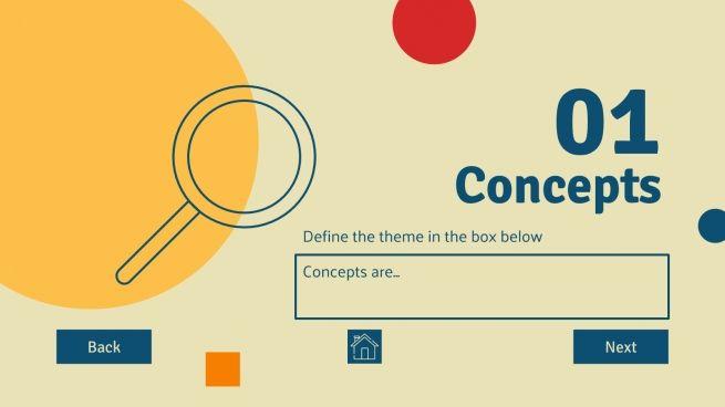 Plantilla de presentación Panel de actividades digital