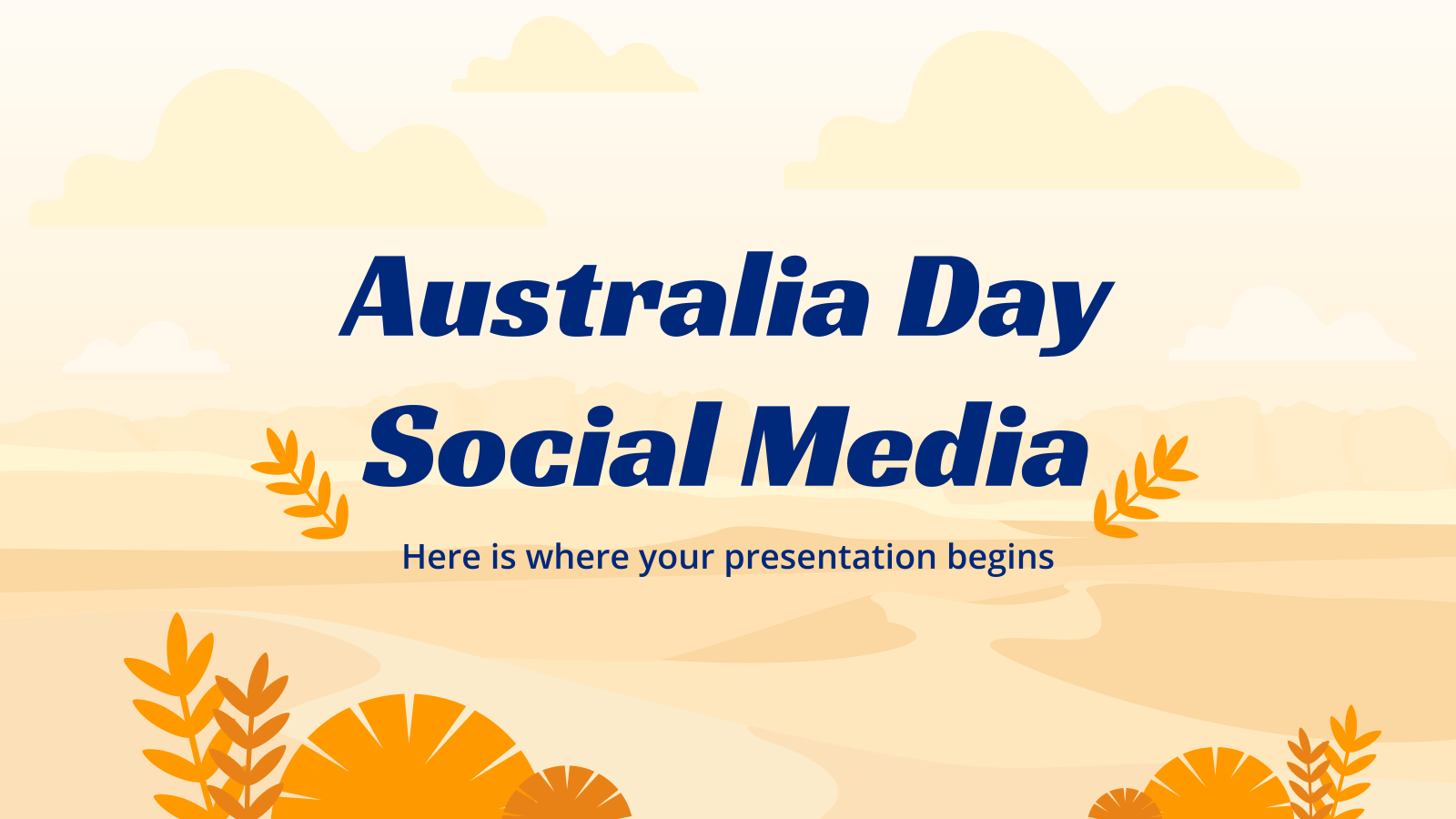 Australia Day Social Media presentation template