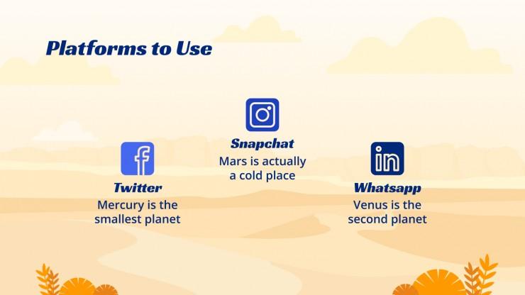 Australia Day Social Media presentation template