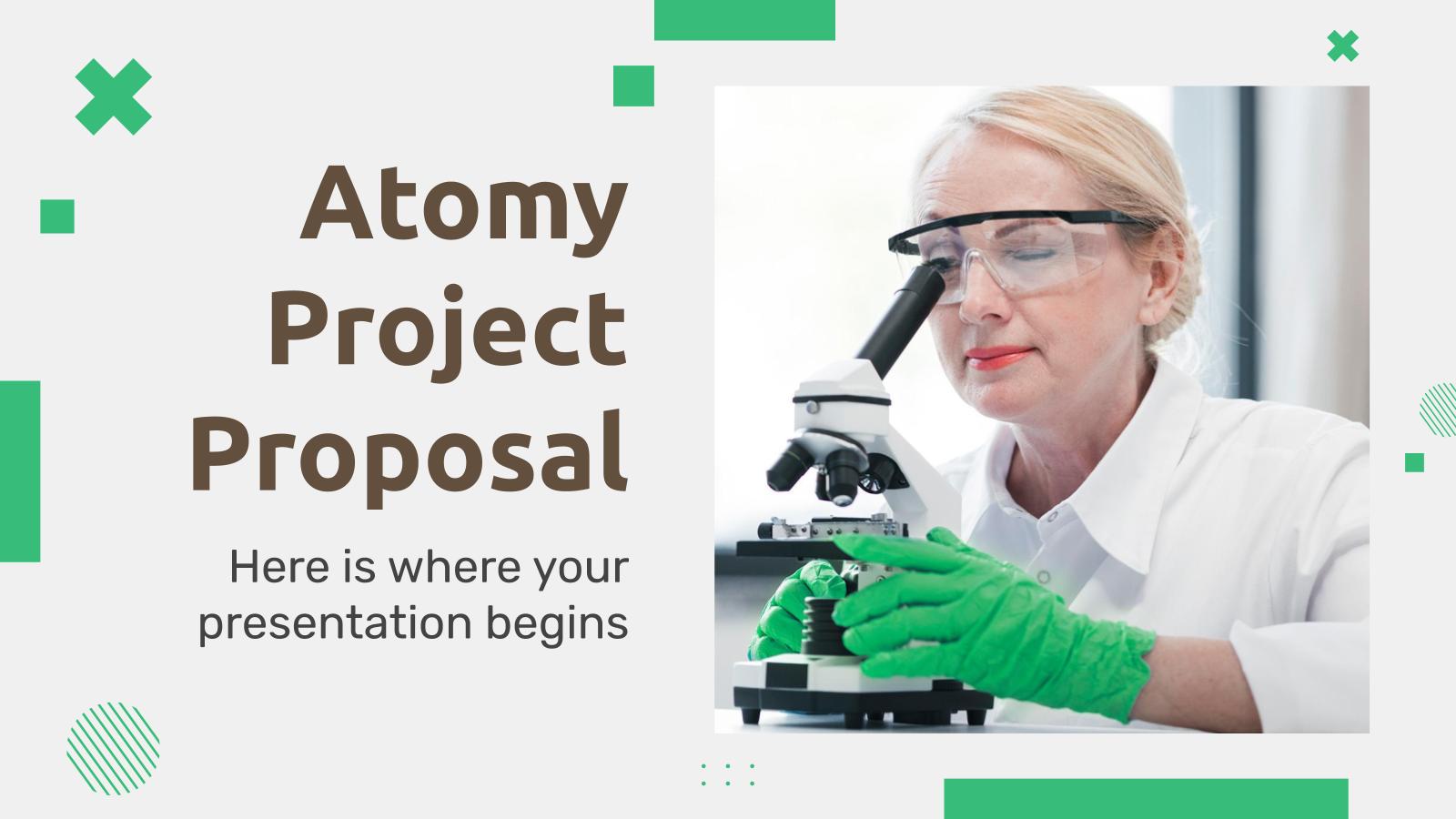 Plantilla de presentación Propuesta de proyecto Atomy