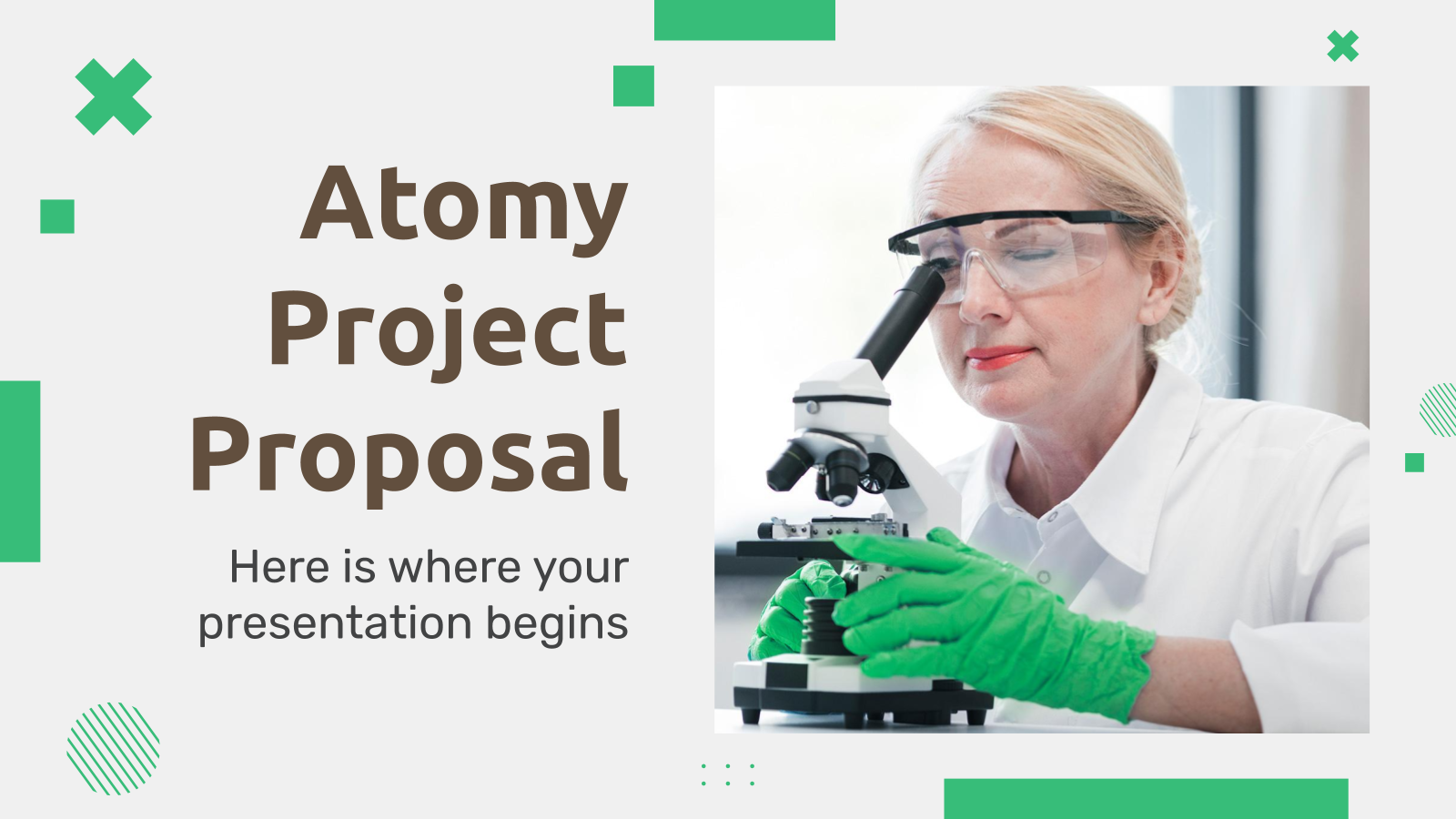 Atomy Project Proposal presentation template