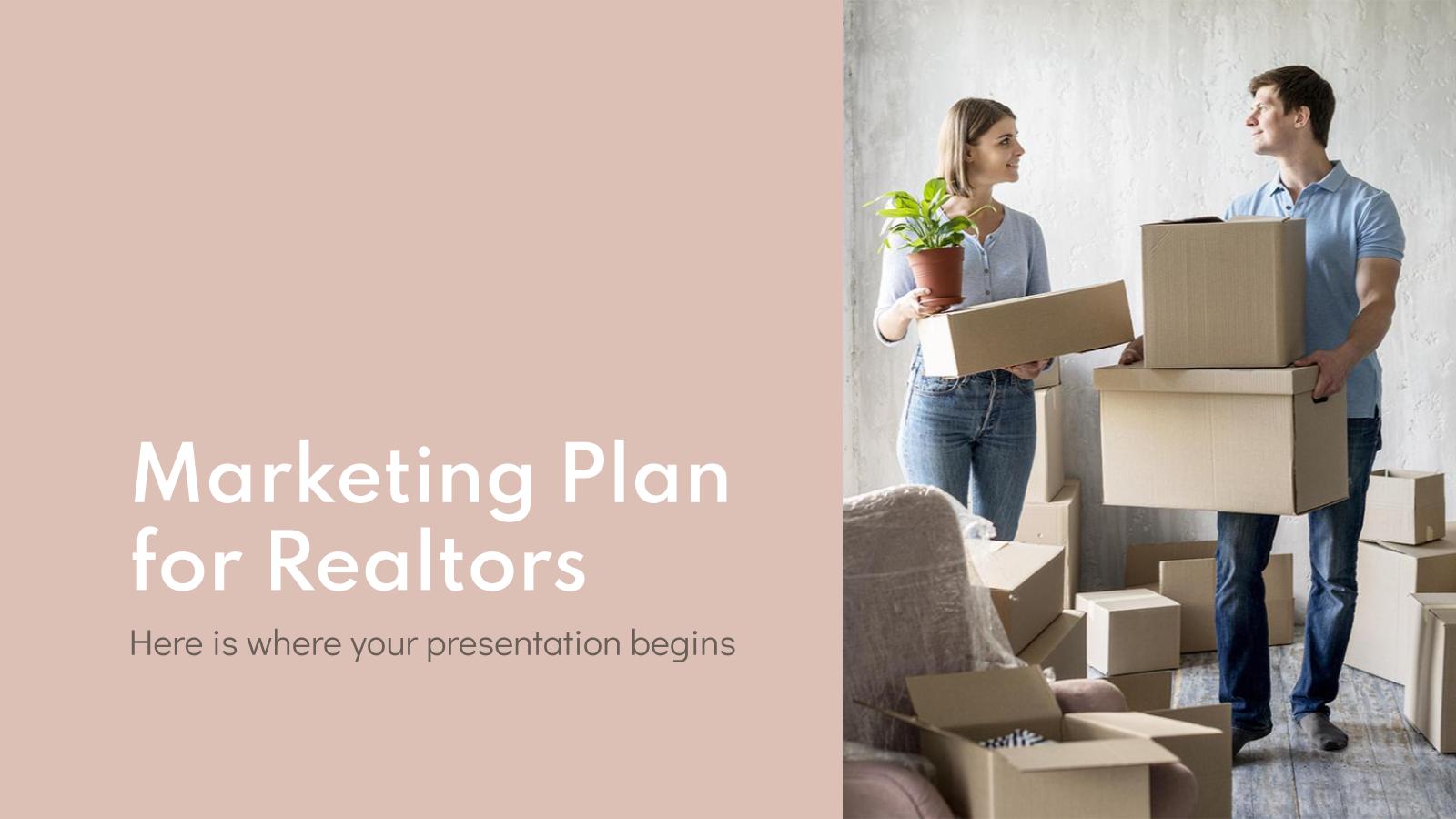 Plan marketing pour les agents immobiliers : Modèles de présentation