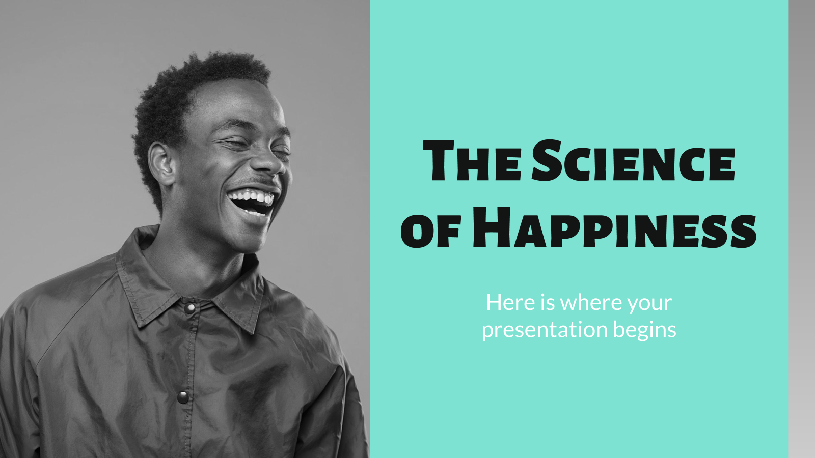 The Science of Happiness presentation template