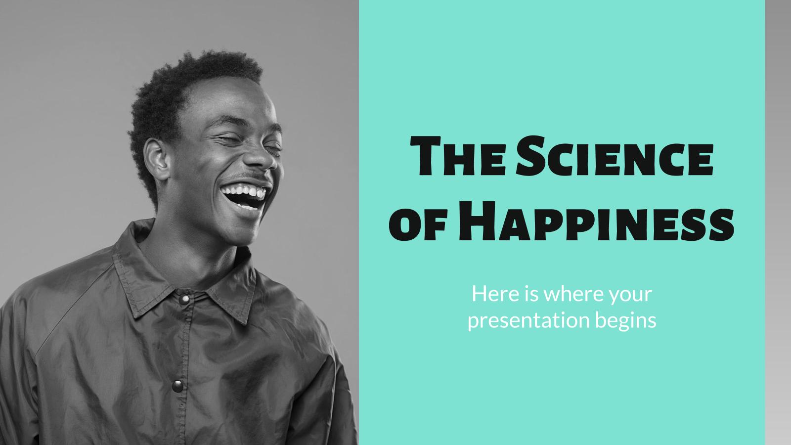 Modelo de apresentação A ciência da felicidade