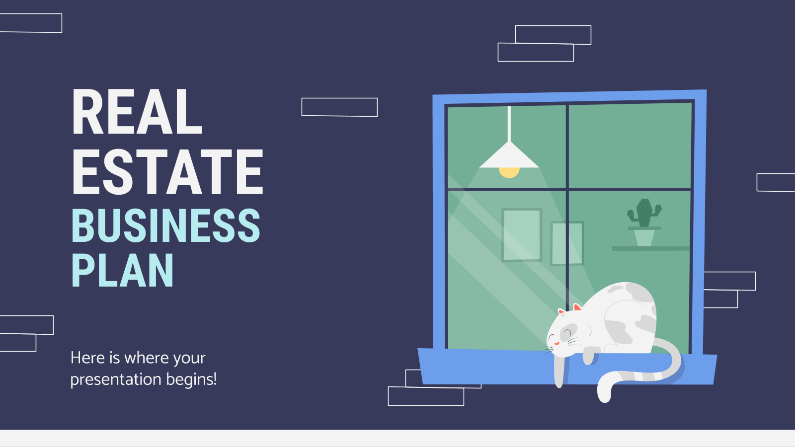 Real Estate Business Plan presentation template