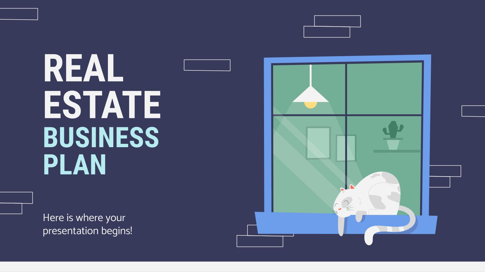 Modelo de apresentação Plano de negócios: setor imobiliário