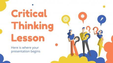 Modelo de apresentação Aula de pensamento crítico