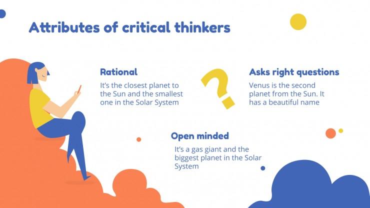 Leçon de pensée critique : Modèles de présentation