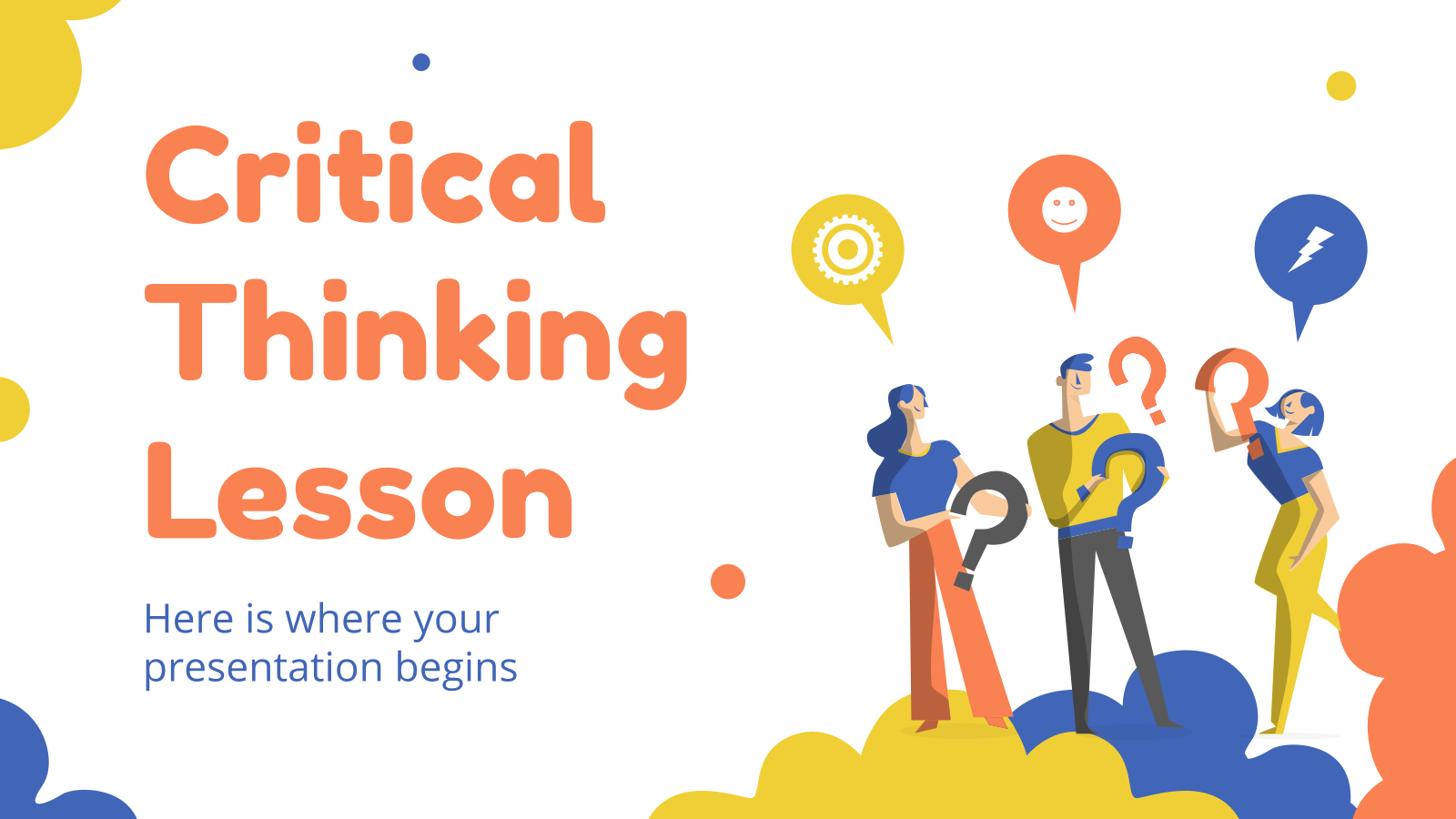 Critical Thinking Lesson presentation template