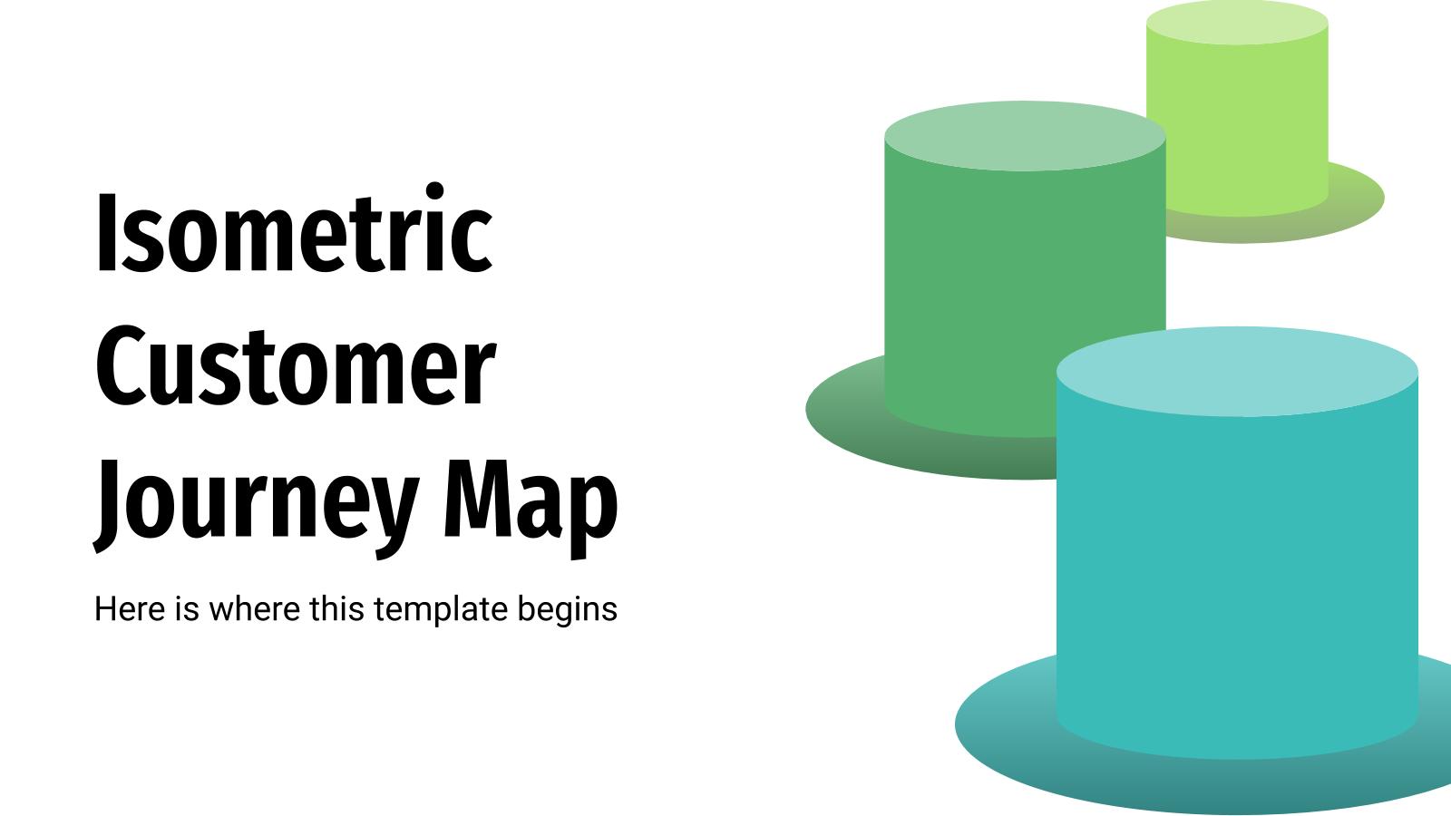 Modelo de apresentação Mapa isométrico da trajetória do cliente
