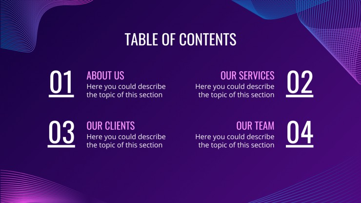 Cybersecurity Agency presentation template