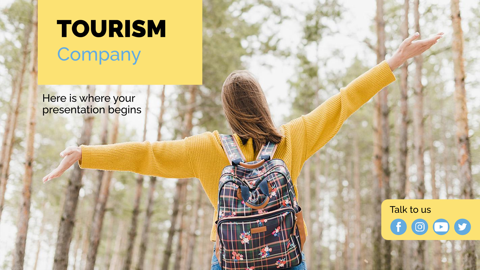 Tourism Company Business Plan presentation template