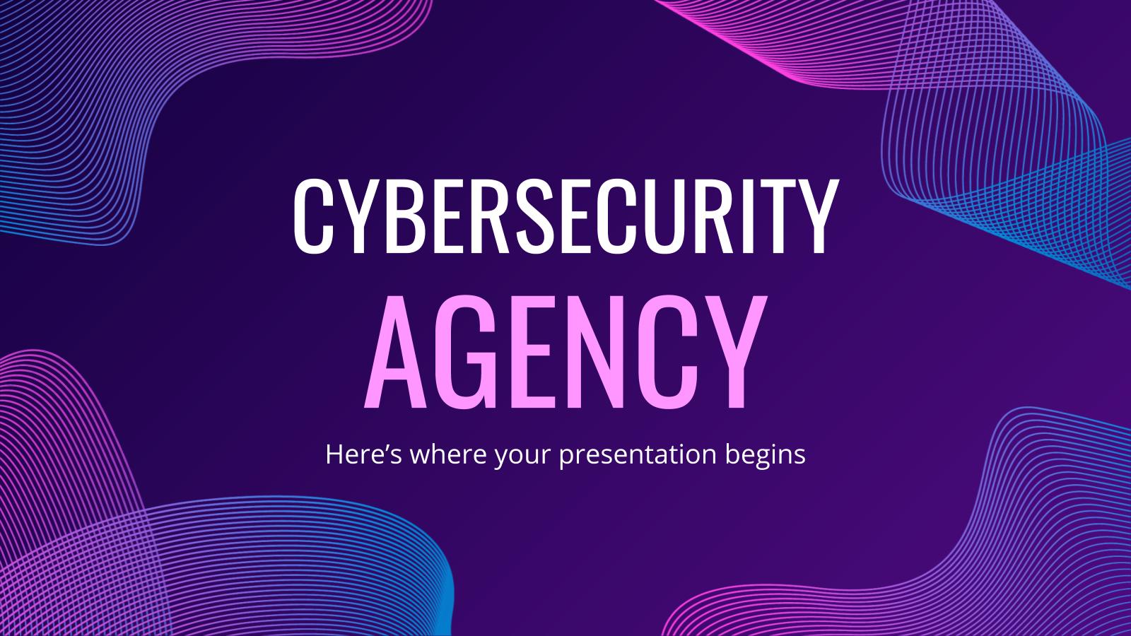 Plantilla de presentación Agencia de ciberseguridad