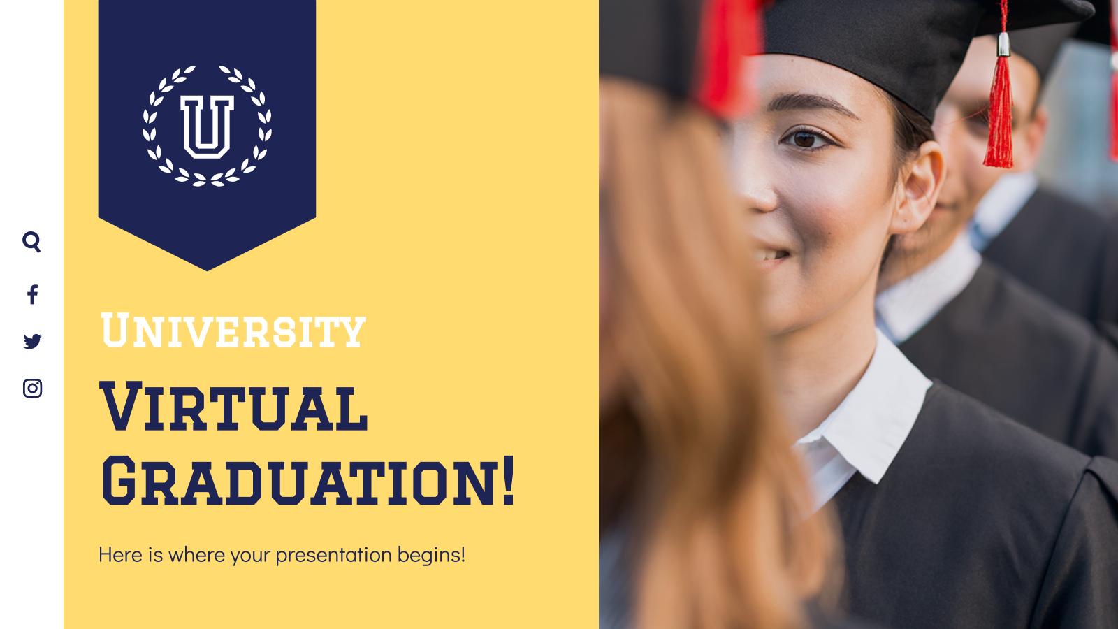 Modelo de apresentação Formatura virtual para universidade