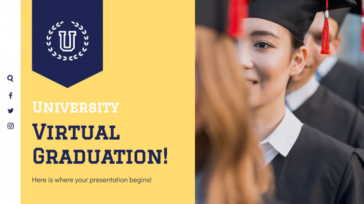 University Virtual Graduation presentation template