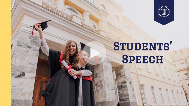Plantilla de presentación Graduación virtual para universitarios