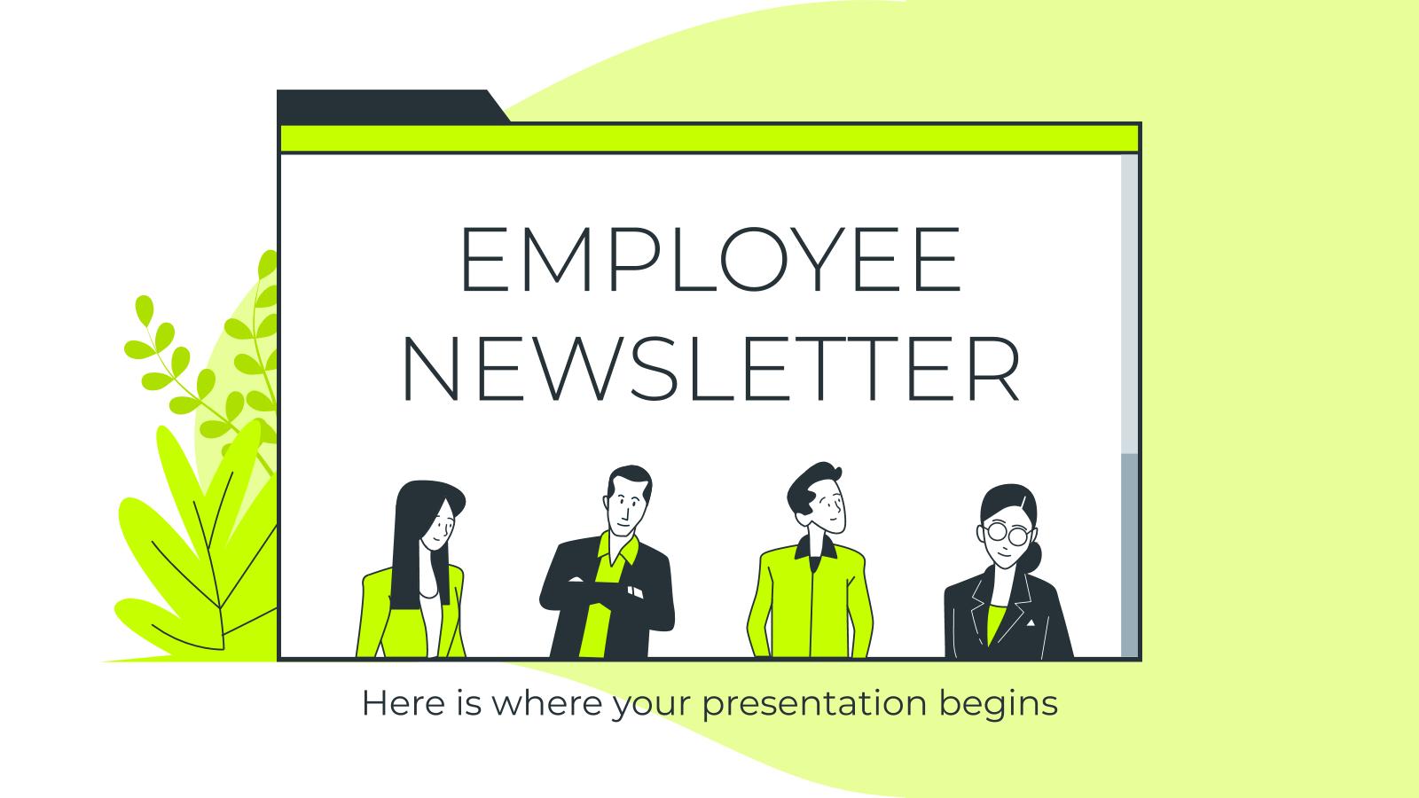 Plantilla de presentación Newsletter para empleados