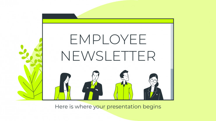 Employee Newsletter presentation template
