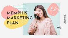 Plantilla de presentación Plan de marketing con estilo Memphis