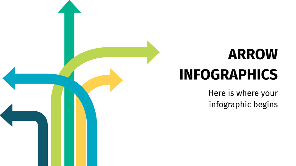 Modelo de apresentação Infográficos de setas