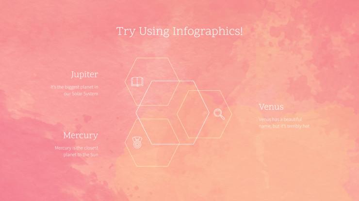 Plantilla de presentación Diapositivas con efecto acuarela