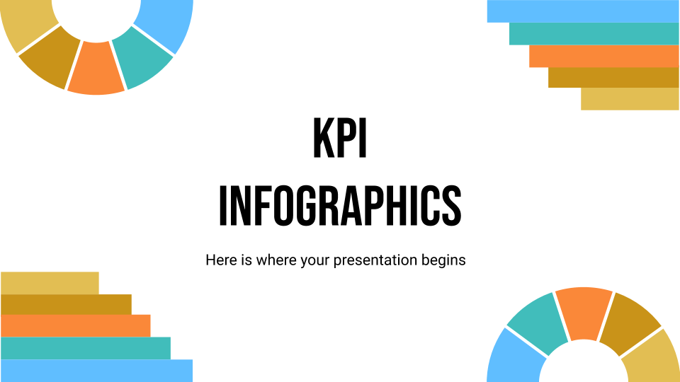 KPI Infographics presentation template