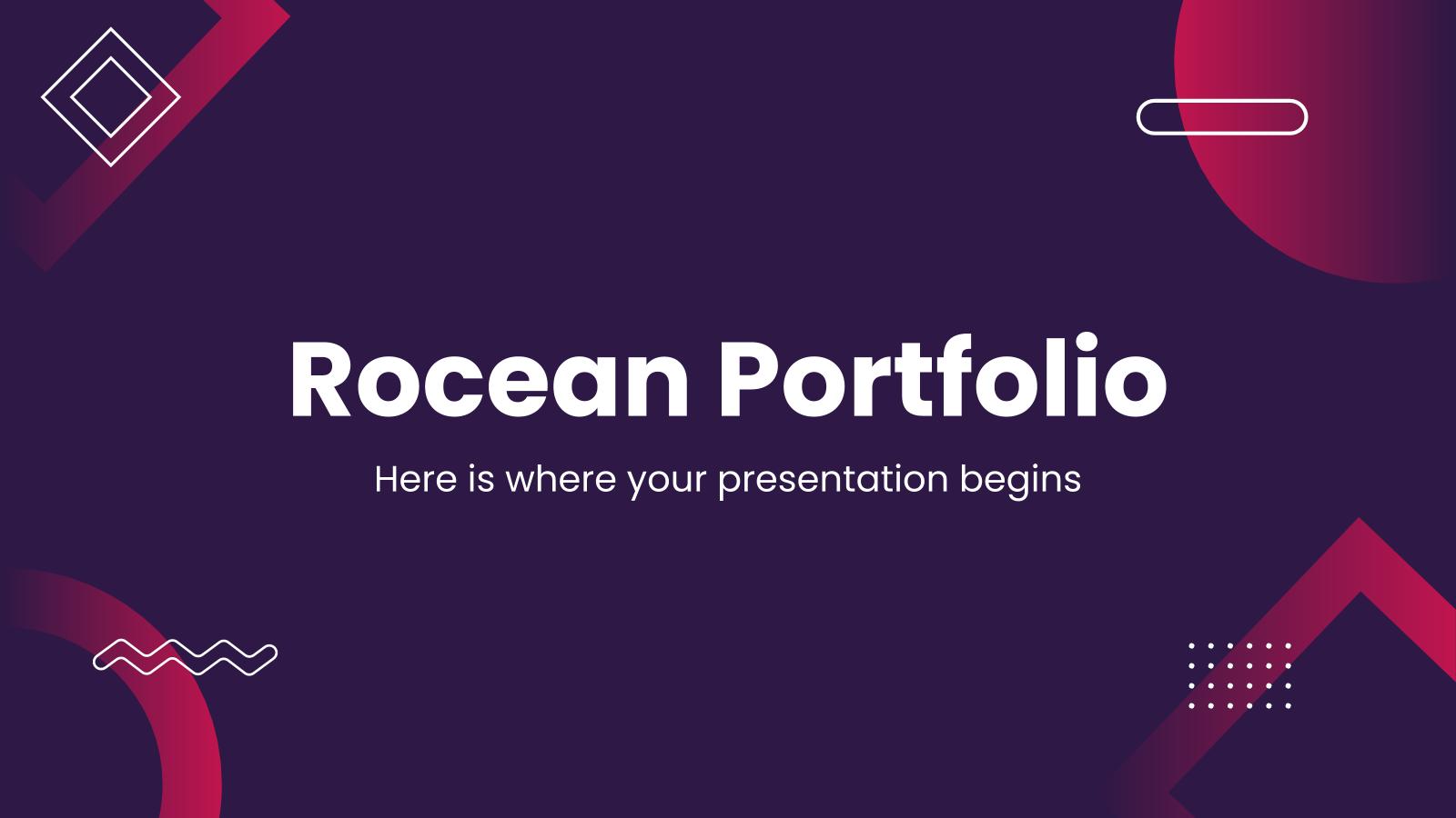 Plantilla de presentación Portafolio Rocean