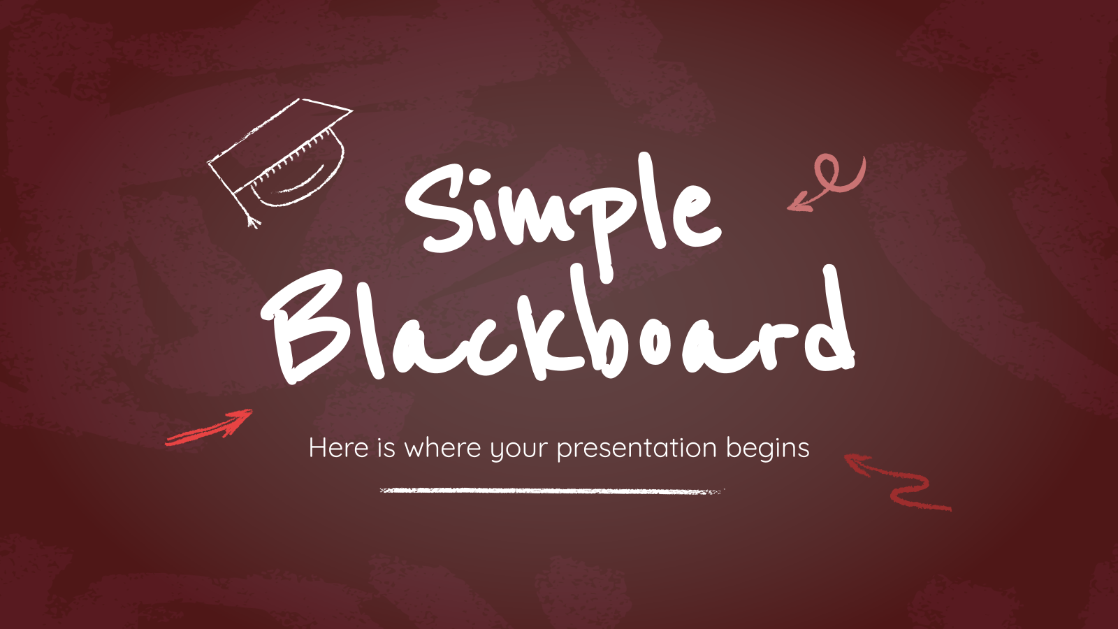 Simple Blackboard Background presentation template