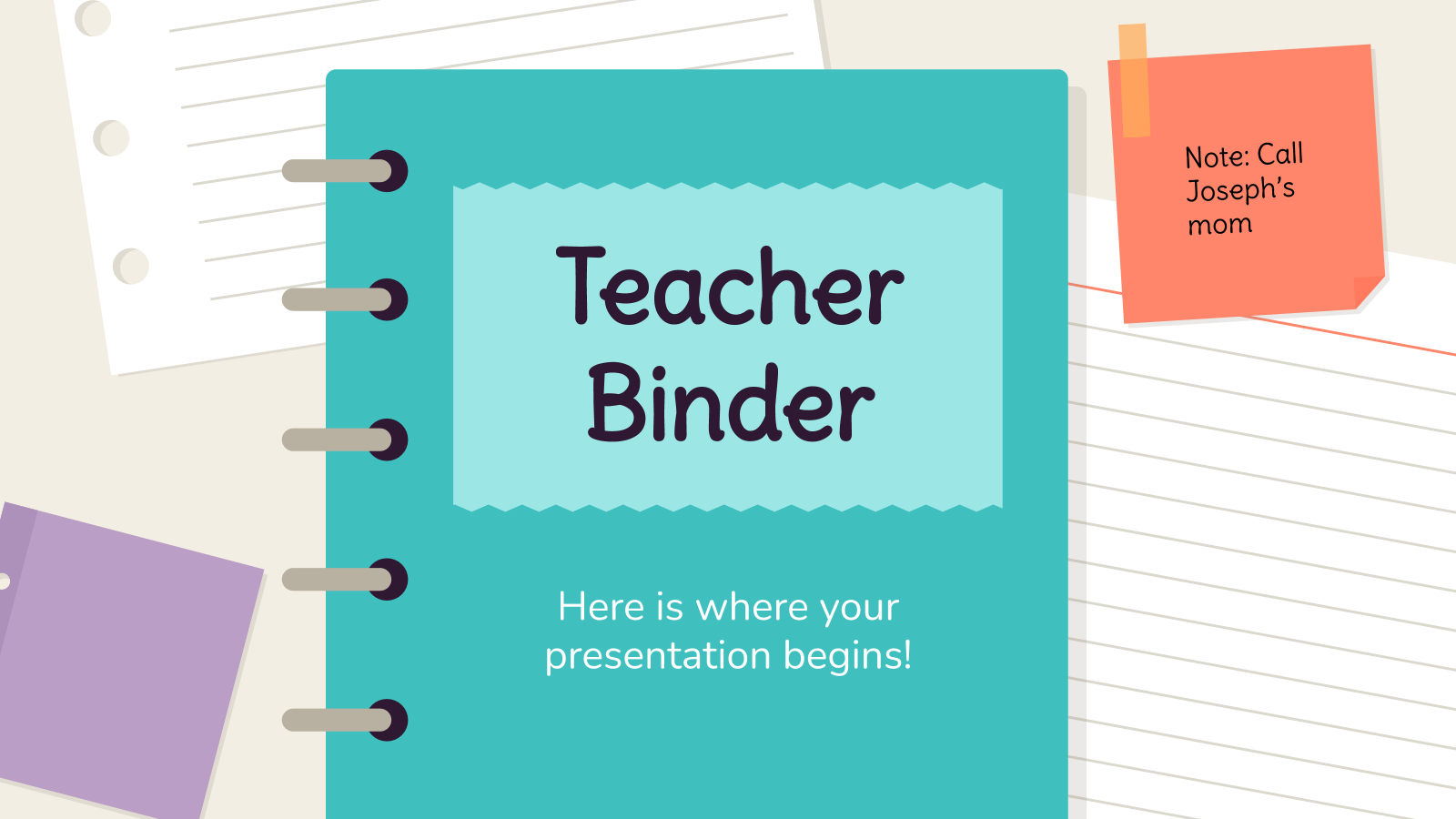 Teacher Binder presentation template