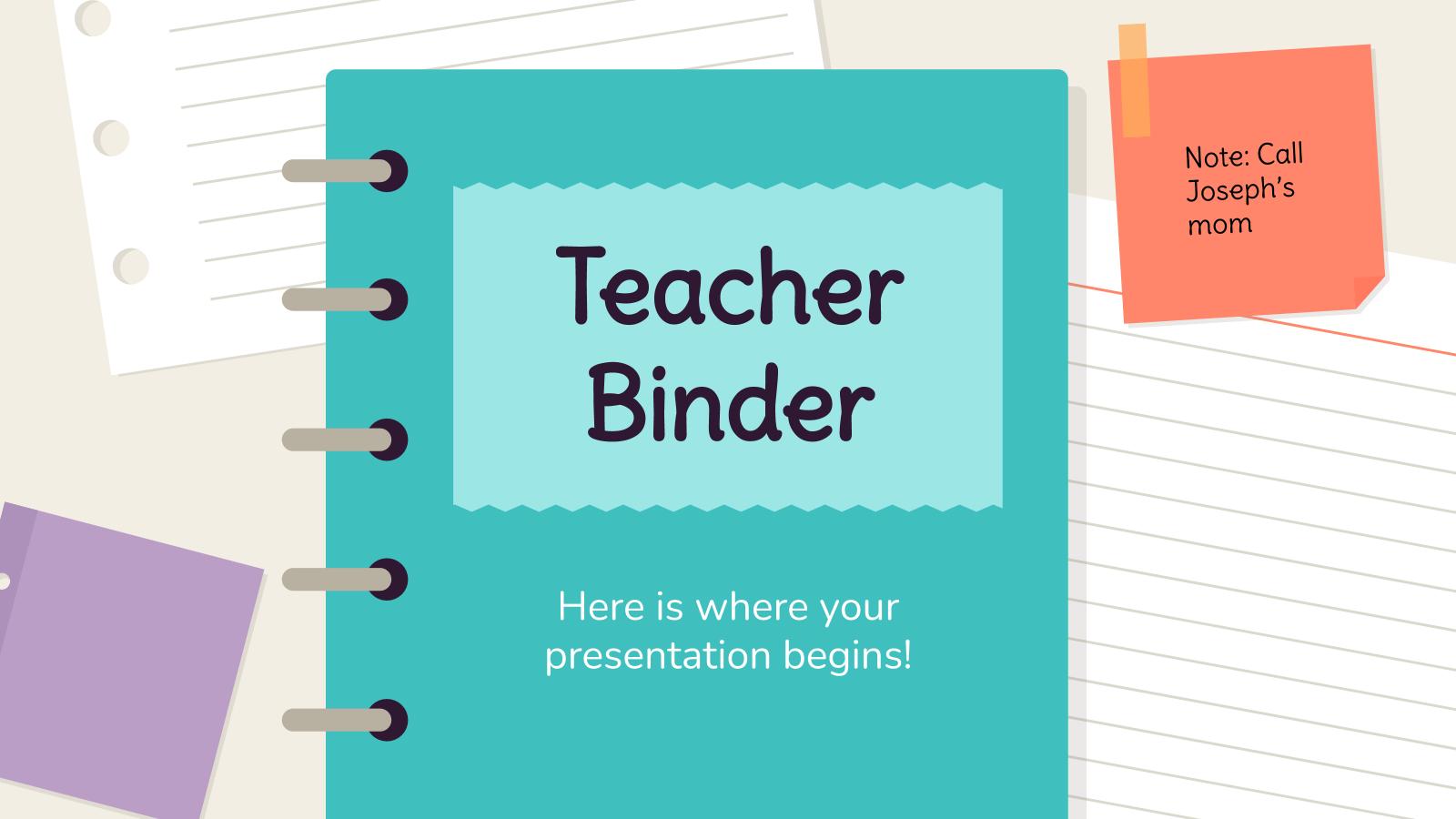Plantilla de presentación Cuaderno para profesores