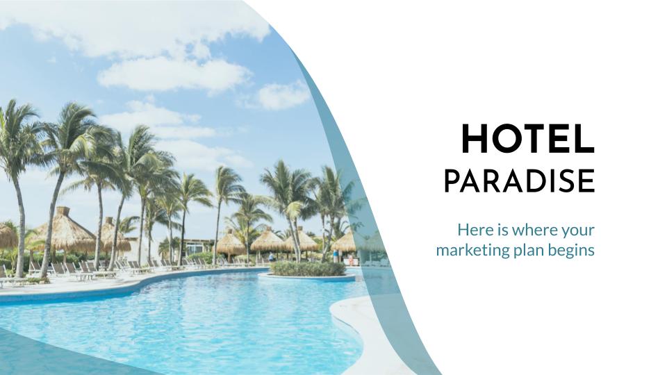 Plantilla de presentación Plan de marketing para hoteles