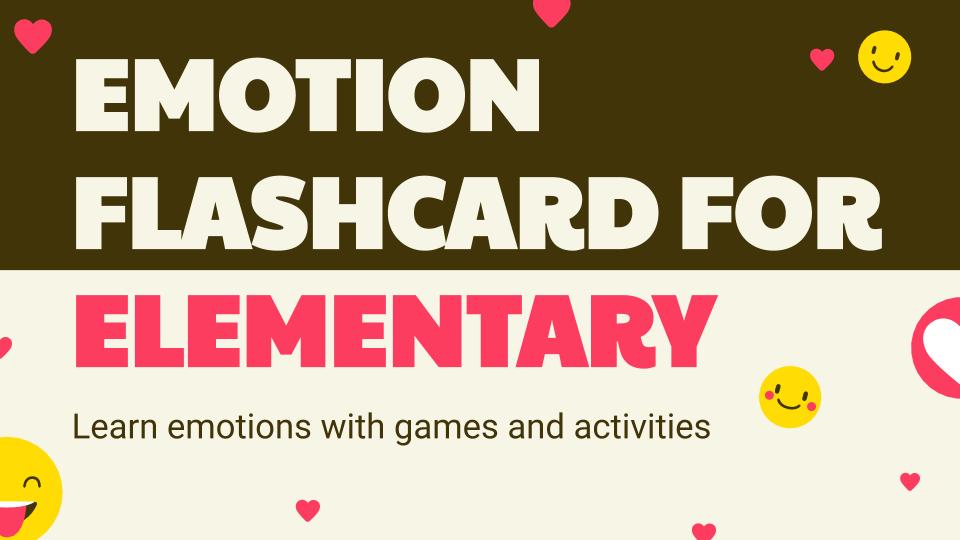 Emotion Flashcard for Elementary presentation template