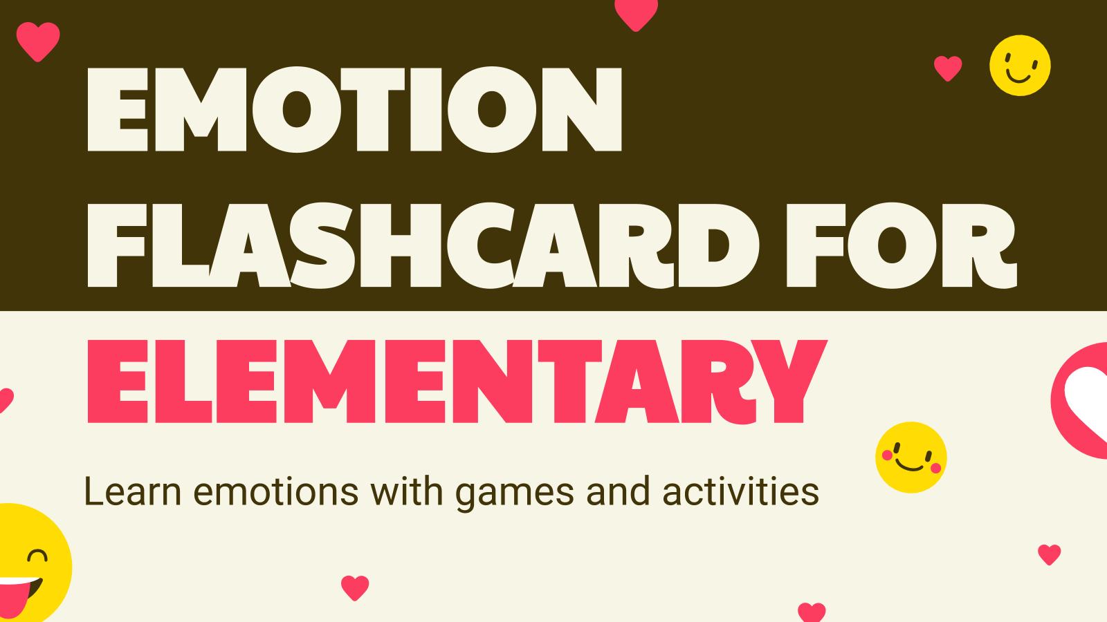 Emotion Flashcard presentation template