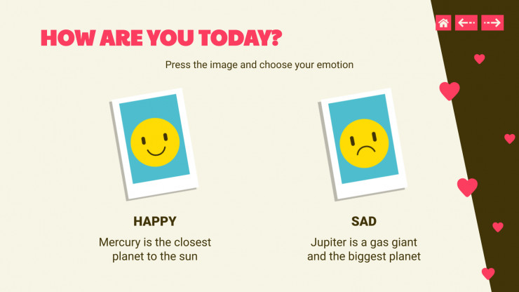 Emotion Flashcard for Elementary presentation template