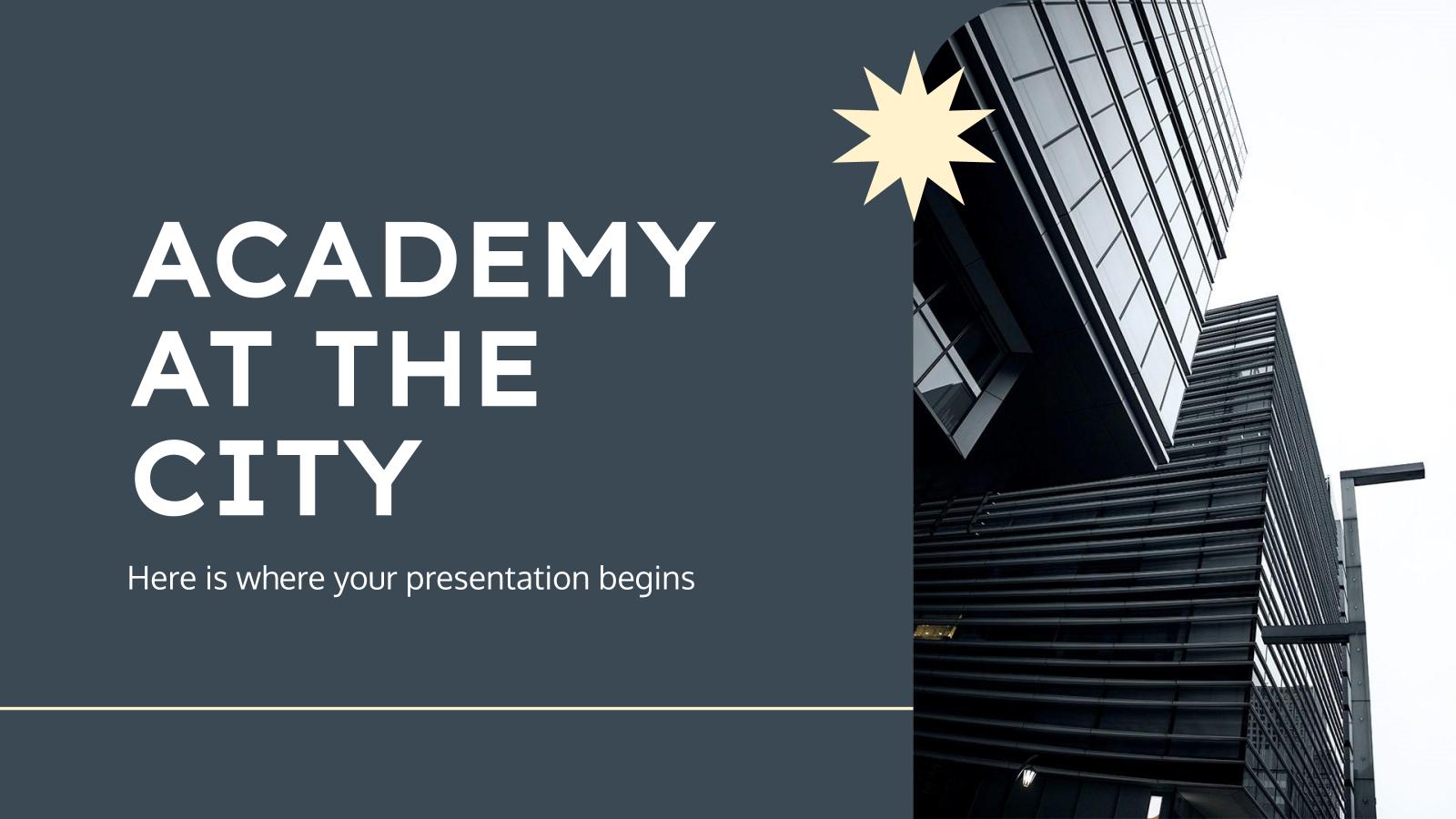 Modelo de apresentação Escolas na cidade