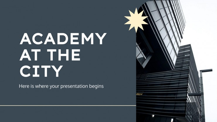 Academy at the City presentation template