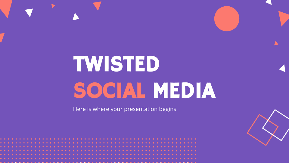 Modelo de apresentação Mídia social Twisted