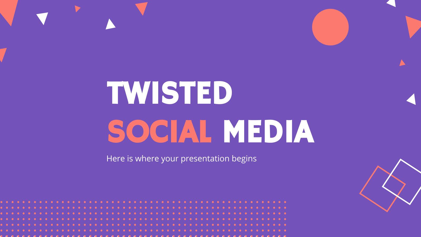 Plantilla de presentación Redes sociales Twisted