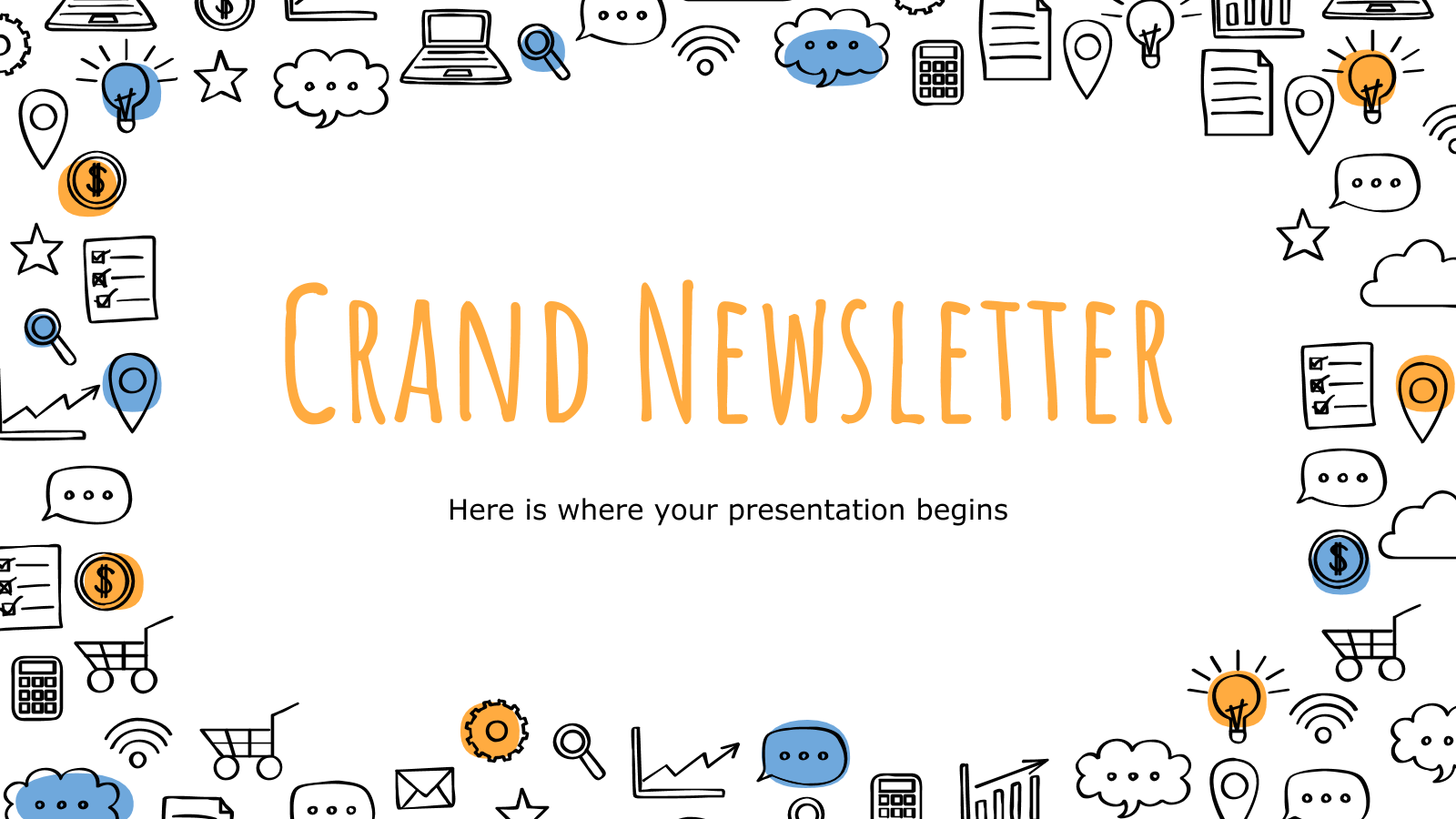 Crand Newsletter presentation template