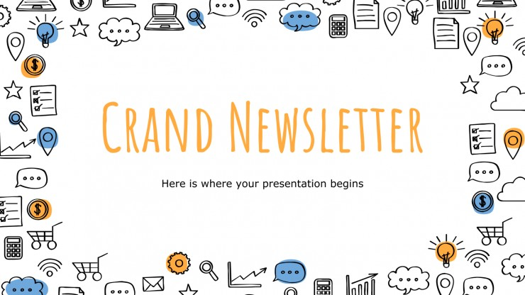 Plantilla de presentación Newsletter Crand