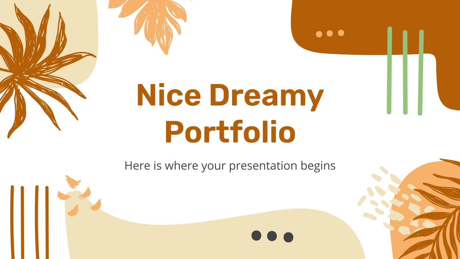 Joli portefeuille de rêve : Modèles de présentation