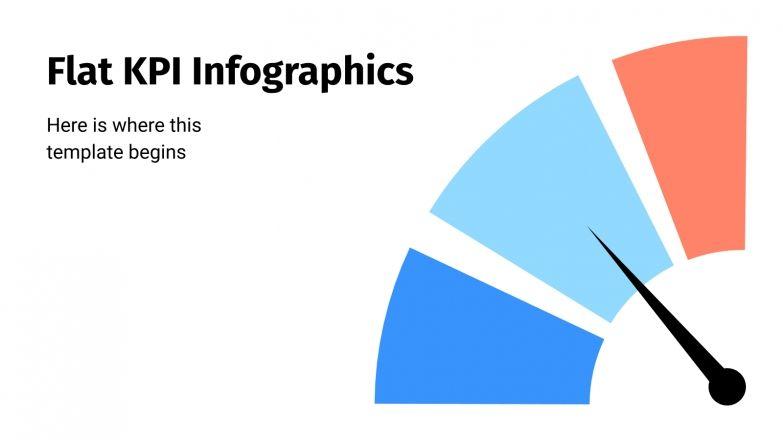 Flat KPI infographics presentation template
